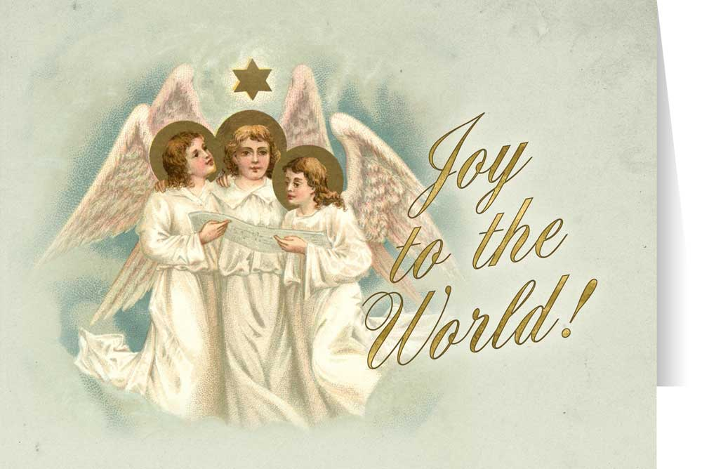 Angels Christmas Cards.Vintage Angels Christmas Cards